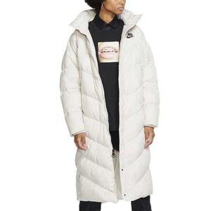 Nike long puffer down coat small winter S white